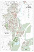 24 x 36 UGA Campus Bike Racks Map