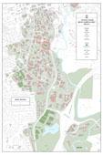 24 x 36 UGA Campus Bike Racks Map