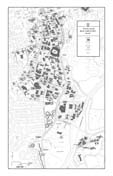 24 x 36 UGA Black and White Campus Map