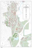 24 x 36 UGA Campus Map with Building Numbers