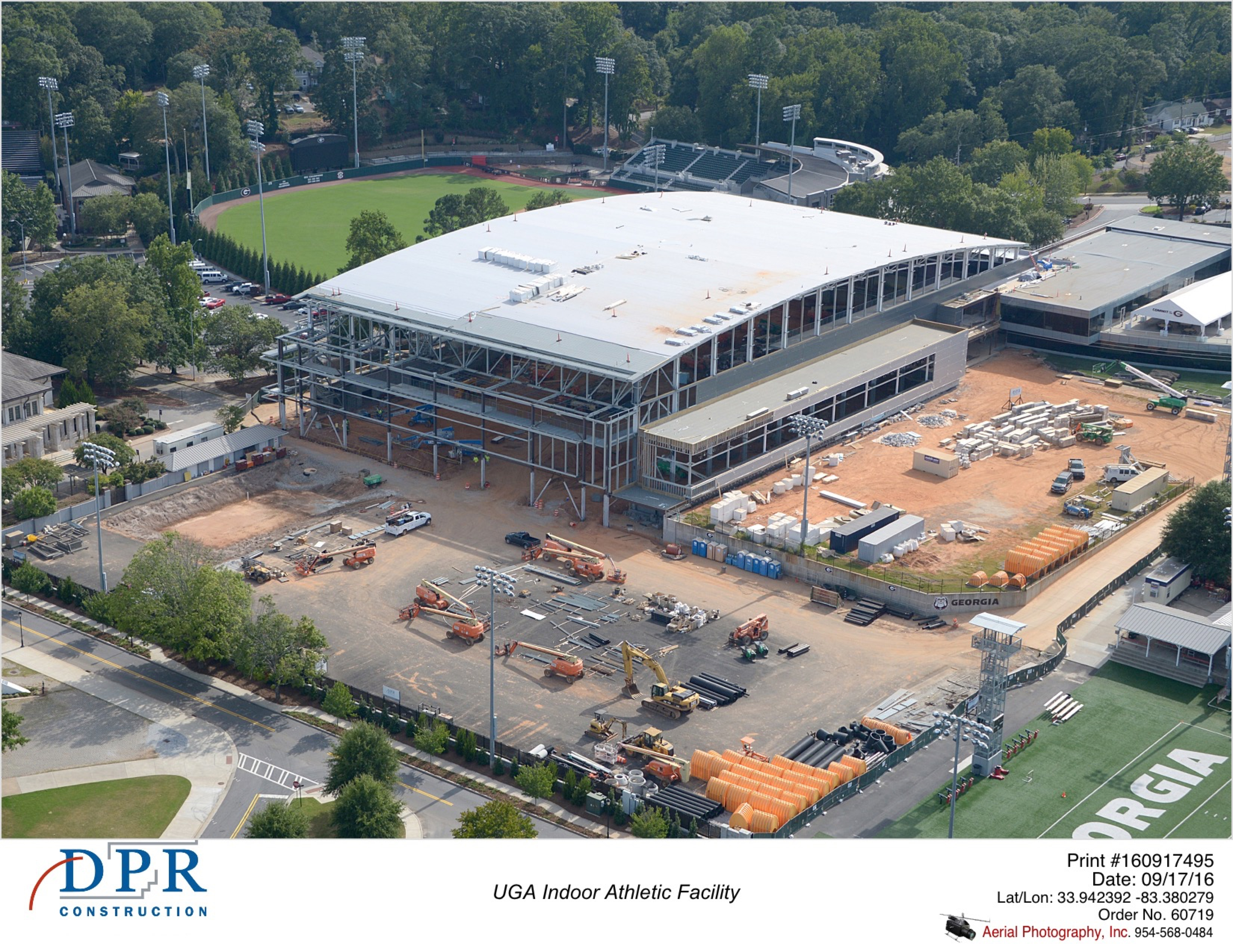 Indoor athletic facility monthly aerial photography for Indoor facility design