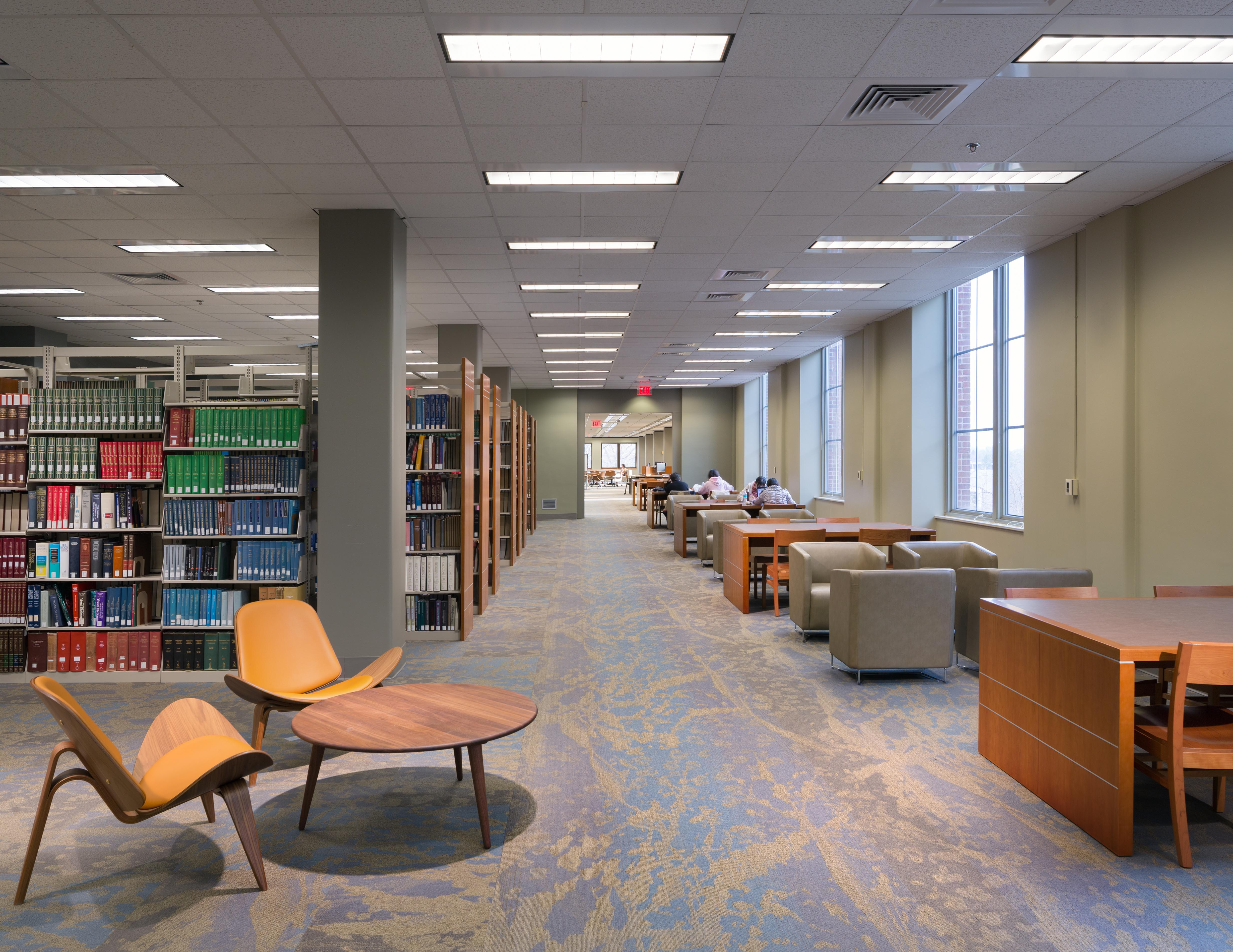 Main library 1st floor renovation university architects - Interior design colleges in georgia ...