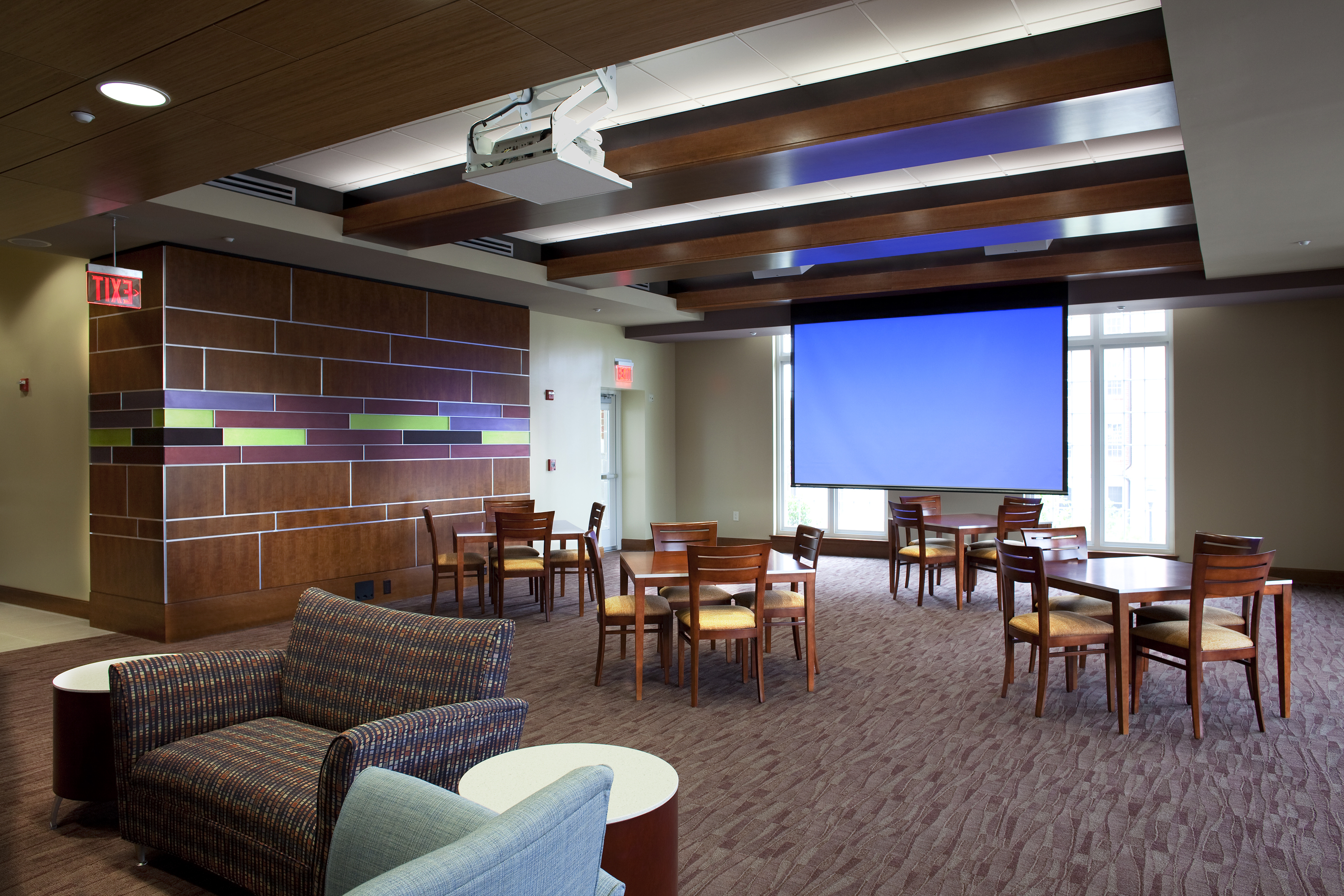 Residence hall 1516 university architects for Hall room interior designs