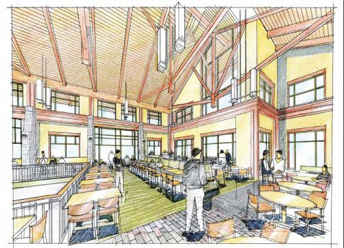 Dining at Second Level | Bolton Dining Hall