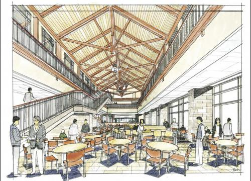 Dining at First Level | Bolton Dining Hall
