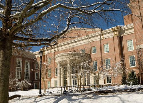 Snow-covered Coverdell Center