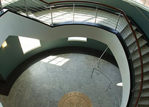 Coverdell Center - Spiral Staircase