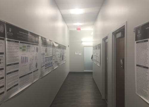 Pharmacy Augusta HM Building Corridor Map Rail Display