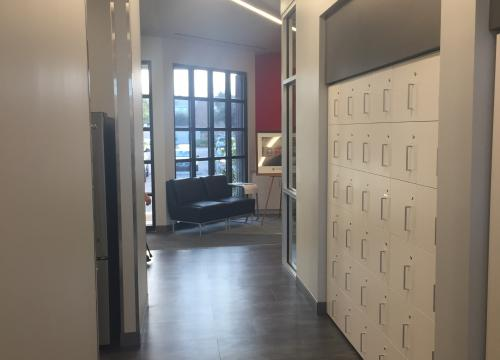 Pharmacy Augusta HM Building Corridor Lockers