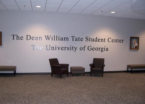 Dean William Tate Lobby Signage