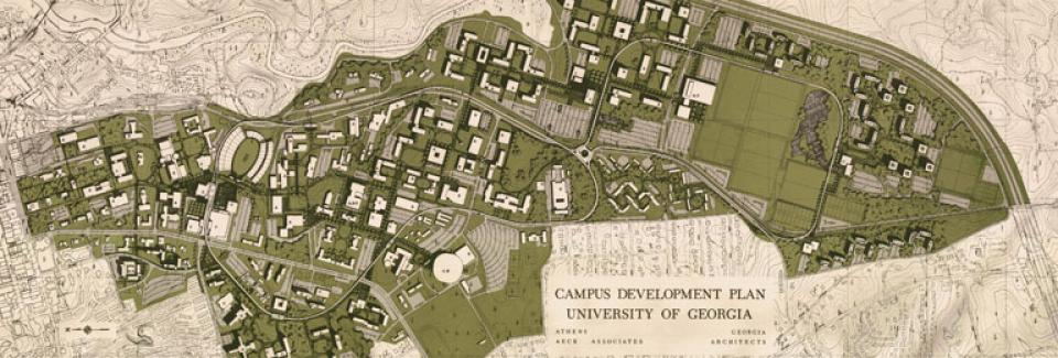 Athens Campus Map.Historic Plans University Architects